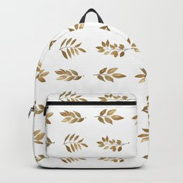 Gold Copper Autumn Leaves 1 Backpack