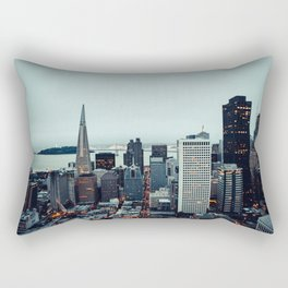 San Francisco Financial District Rectangular Pillow