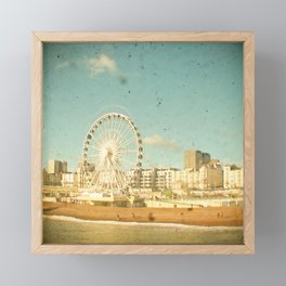 Brighton Wheel Framed Mini Art Print