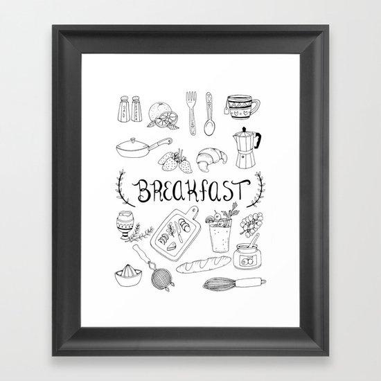 Breakfast Framed Art Print