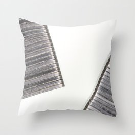 Abstract image composed of two office staples slats Throw Pillow