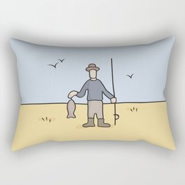 Beavid and Butthead Fisherman picture Rectangular Pillow
