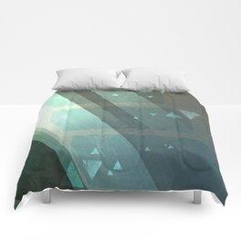 Dappled Dreams: Aqua Comforters