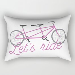 Let's Ride Tandem Bicycle - Purple Rectangular Pillow