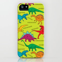 Dinosaur Print - Colors iPhone Case