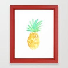 Salty Pineapple Framed Art Print