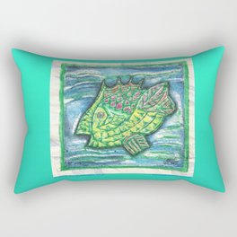 Counter Fish Rectangular Pillow