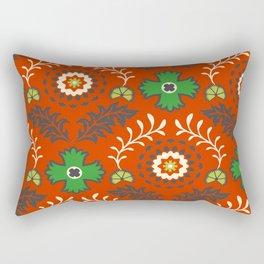 BOHEMIAN FARMHOUSE RED Rectangular Pillow