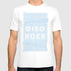 Disorder MEDIUM White Mens Fitted Tee