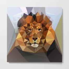 Lion Techy Art Metal Print