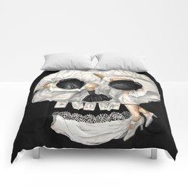 Tarot Reader Girl - Optical Illusion Skull Comforters