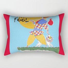 The Fool Tarot Card Rectangular Pillow