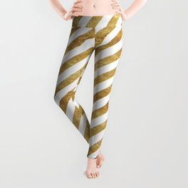 Golden Stripes Leggings