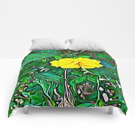 Yellow Flower of Expanded Frequency Comforters