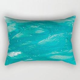 Aqua Waves Rectangular Pillow