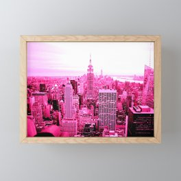 New York City Pink Framed Mini Art Print