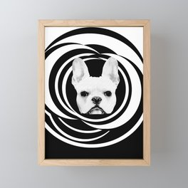 Frenchie Retro Disco Dog #2 #decor #art #society6 Framed Mini Art Print