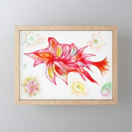 Petal Fish Framed Mini Art Print