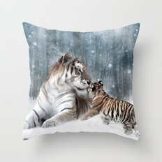 Tigers Throw Pillow