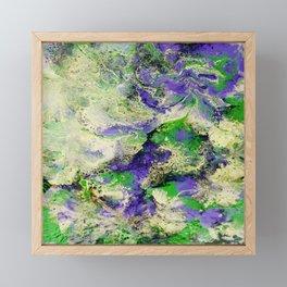 Pansies in Cream Framed Mini Art Print