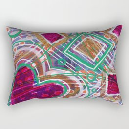 Movement from the Heart Space: Inner Power Painting Rectangular Pillow