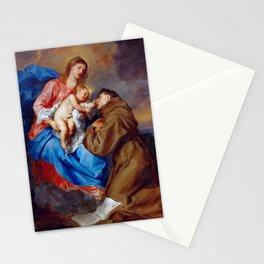 "Sir Anthony van Dyck ""Vision of St. Antony of Padua"" Stationery Cards"