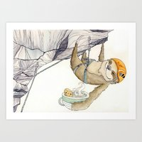 Art Print featuring Chill & Sloth  by Eat ▪ Climb ▪ Draw