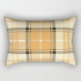 Gold Tartan Rectangular Pillow