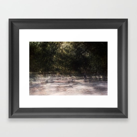 bike multiple exposure Framed Art Print