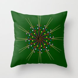 Snooker Cues and Balls Circle Throw Pillow