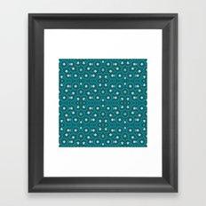 Circles and Stars Framed Art Print