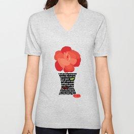 Said the Rose (Poem Excerpt) Unisex V-Neck