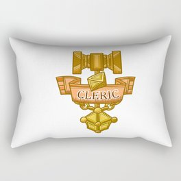Cleric Hammer, d8 and Lantern Coat of Arms Rectangular Pillow