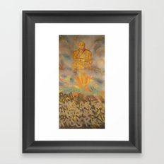 Seated Meditation Framed Art Print