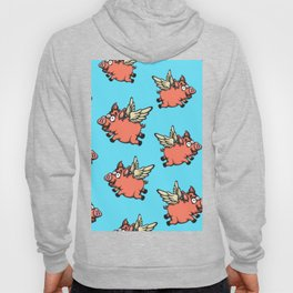 Pigs Can Fly Pattern Hoody