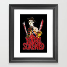 Slasher Mash (SFW) Framed Art Print