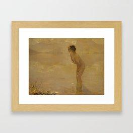 September Morn by Paul Chabas Framed Art Print