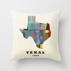 Texas state map modern Throw Pillow