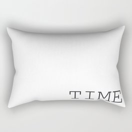 TIME Minimalist Black and White Words  Rectangular Pillow