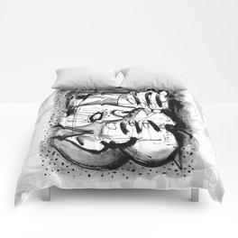 Drinker - b&w Comforters