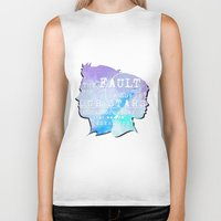 fault Biker Tanks featuring The fault in our stars by //SOLIDS//