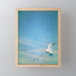 flying into blue II Framed Mini Art Print
