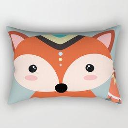 tribal fox boy Rectangular Pillow