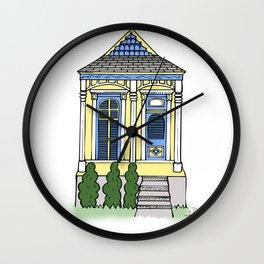New Orleans Shotgun House - Color Wall Clock