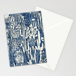 Indigo cacti Stationery Cards