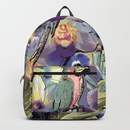 Mauve Orchid Tropical Backpack