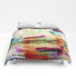 Abstract Painted Lights Comforters