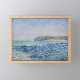 Shadows on the Sea at Pourville by Claude Monet Framed Mini Art Print