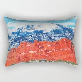 Pikes Peak Behind the Garden of the Gods Rectangular Pillow
