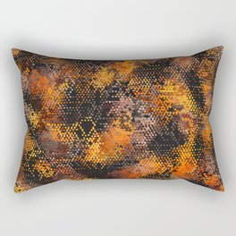 The Hive Abuzz Abstract Rectangular Pillow